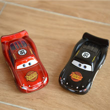 Disney Cartoon Movie Pixar Cars 2pcs New Lighting McQueen Jackson Storm 1:55 Diecast Metal Alloy Toys Kid New Year Toy Best Gift(China)