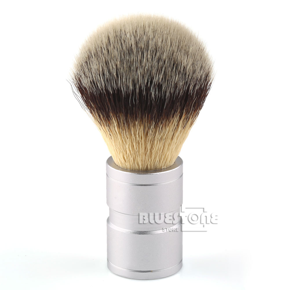 Hadiah Lelaki Baru Silvertip Faux Badger Hair Shaving Brush Stainless Metal Handle Barber Tool