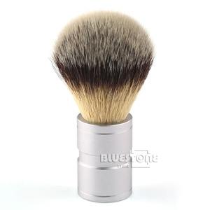 New Men's Gift Silvertip Faux Badger hair Shaving Brush Stainless Metal Handle Barber Tool