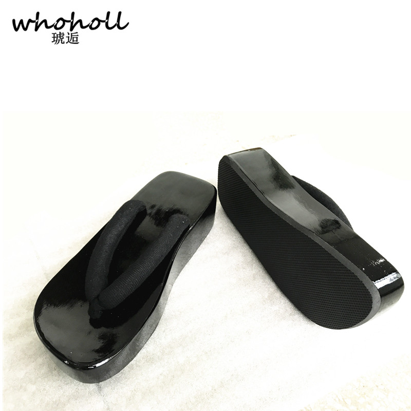 WHOHOLL Japanese Geta Summer Sandals Man Couple Flip-flops Male Onmyoji Wooden Clogs Sho ...