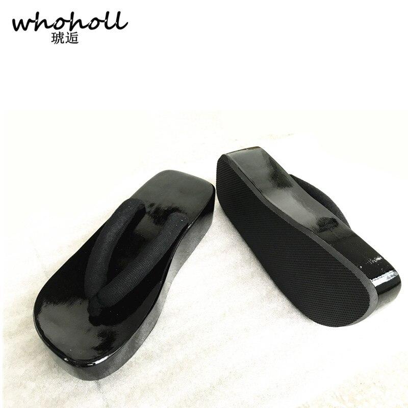 Couple Whoholl D'été Bateaux Homme Mâle Sandales Noir rouge Geta Japonais Sabots Cosplay Chaussures Onmyoji Tongs qI1w7trIx