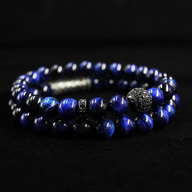 Bracelet Oeil De Tigre Bleu