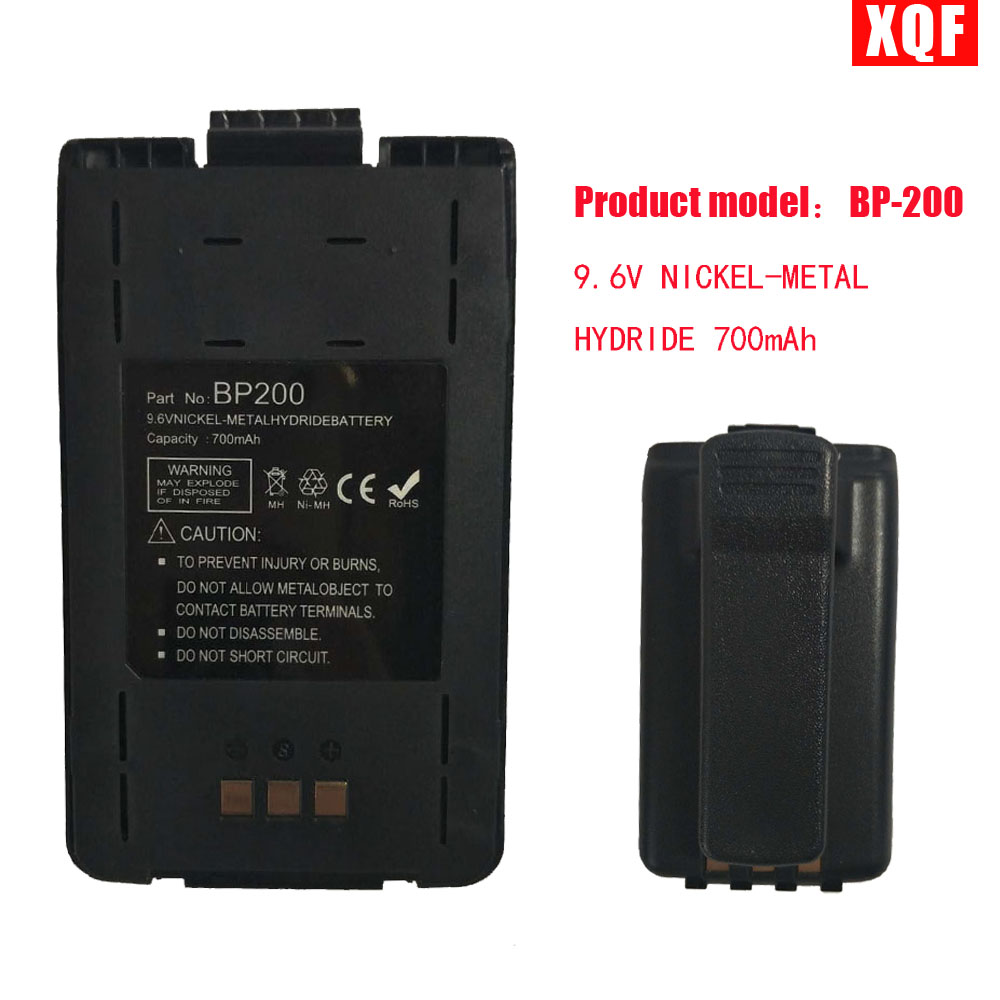 XQF 9.6V NICKEL-METAL HYDRIDE 700mAh Battery For ICOM Radio BP-200 BP-200L + Belt ClipXQF 9.6V NICKEL-METAL HYDRIDE 700mAh Battery For ICOM Radio BP-200 BP-200L + Belt Clip