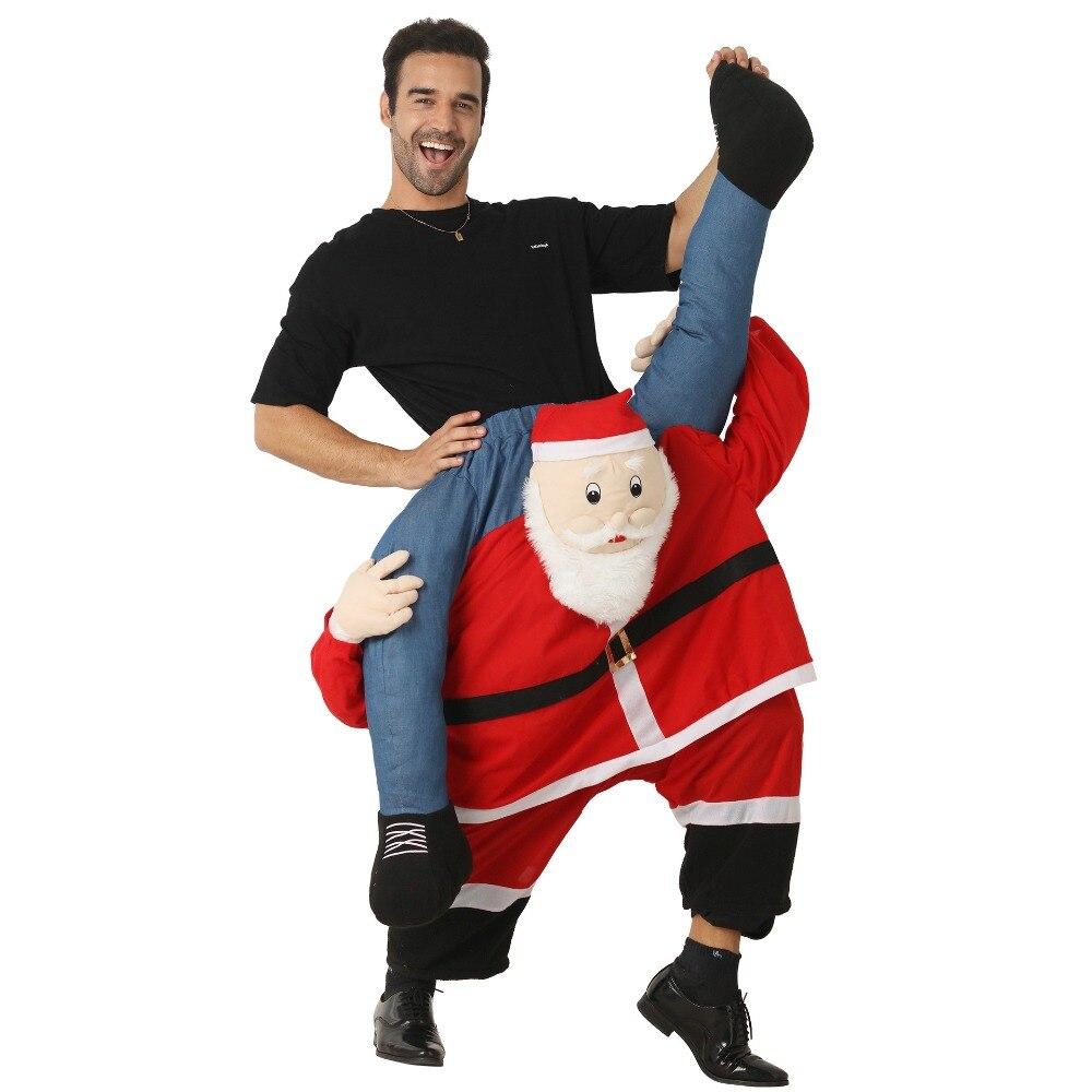 Drôle Costume de père noël monter sur moi Animal pantalon porter arrière fantaisie Up Costume de fête vêtements de Festival de noël