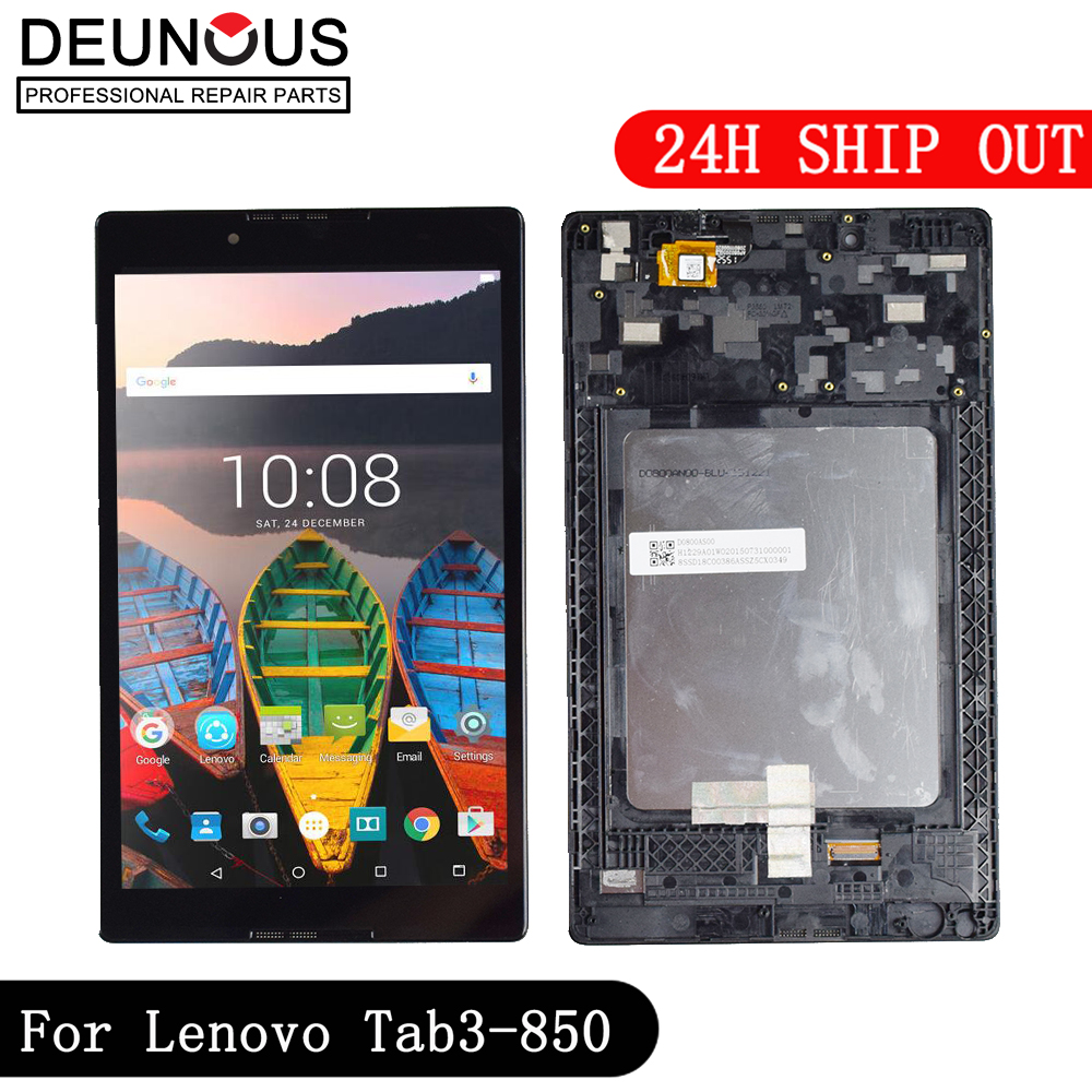 New Touch Screen LCD Display Panel Digitizer Assembly Frame For Lenovo Tab 3 TAB3 8.0 850 850F 850M TB3-850M TB-850M Tab3-850