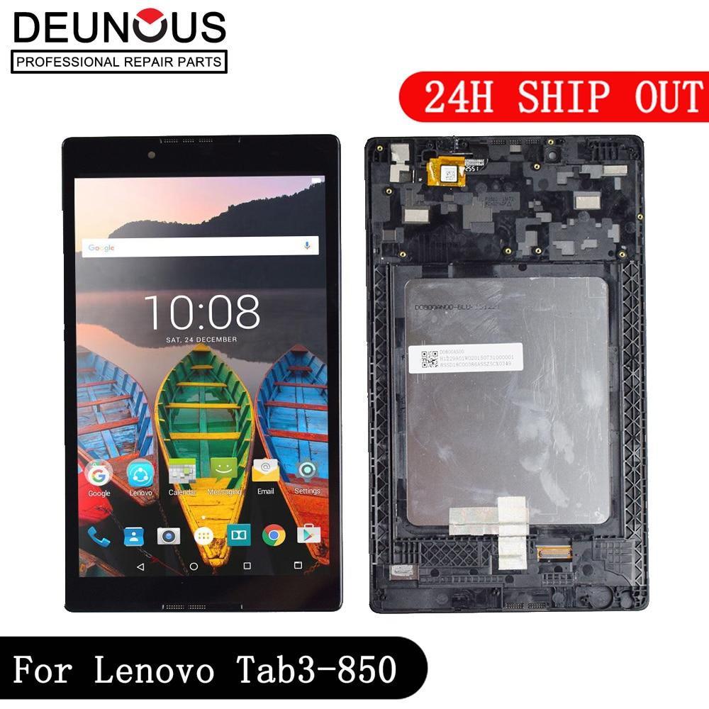 New Touch Screen LCD Display panel digitizer assembly Frame for Lenovo Tab 3 TAB3 8.0 850 850F 850M TB3-850M TB-850M Tab3-850 �������������� lenovo tab 3 tb3 850m