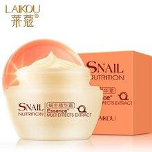 Laikou crema de caracol esencia cuidado facial de múltiples efectos hidratantes Whiteing anti-arrugas crema Anti envejecimiento cuidado de la piel extracto de 50 g