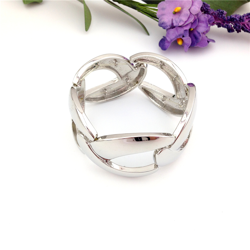 Special store Female women fashion star silver color elastic bracelet jewelry