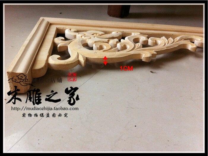 Dongyang sculpture sur bois dragon sculpté bois garniture angle pistolet décalque feuille allée toit plafond bois linteau faisceau - 4