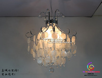 Chandelier crystal shell American personality restaurant living room bedroom modern CL FG271