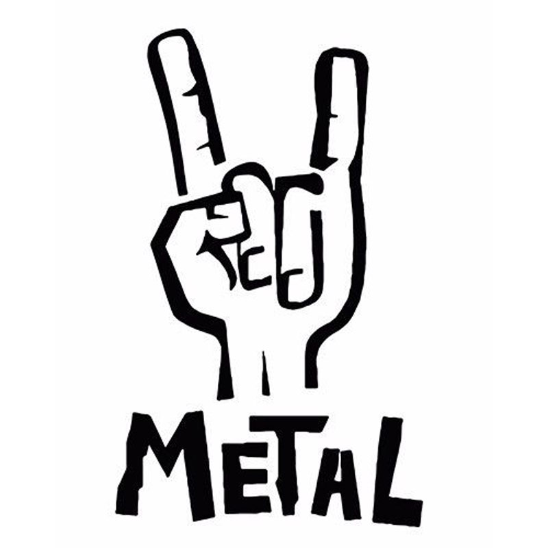 Wholesale 5pcs,10pcs,7.6*12.1CM Heavy Metal Sticker Vinyl Decal Electric Bass Guitar Rock Personality Car Sticker Accessories jockomo p50 gb16 inlay sticker decal for guitar bass body twisted snake made in japan