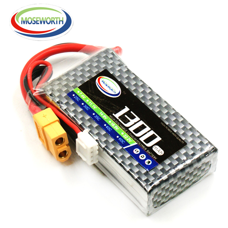 Lipo Battery 3S 11.1V 1300mAh 60C For RC Airplane Quadcopter Drone Aircraft Helicopter Car Remote Control Toys Lithium Battery frsky horus x10 transmitters built in ixjt module 2 4g 16ch remote control for rc helicopter drone uav airplane