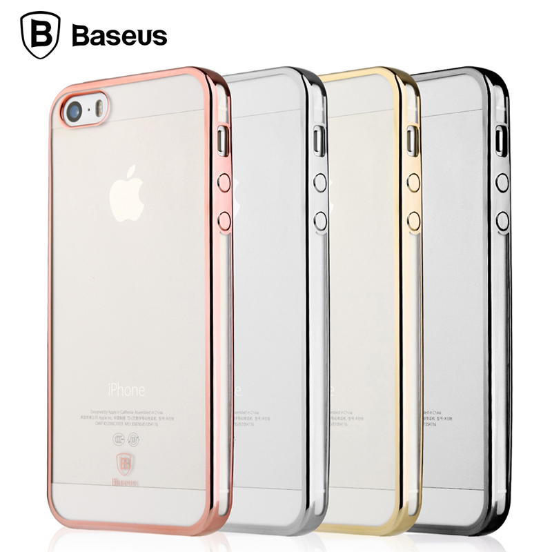 baseus for iphone 5 5s se case luxury plating coque funda. Black Bedroom Furniture Sets. Home Design Ideas