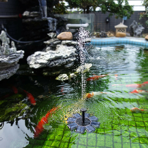 Image 2 - 8V Solar Fountain Watering kit Power Solar Pump Pool Pond Submersible Waterfall Floating Solar Panel Water Fountain For Garden