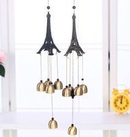 Eiffel Tower Metal Wind Chimes  Model Art Hanging Crafts Feng Shui Wind Chimes Decoration