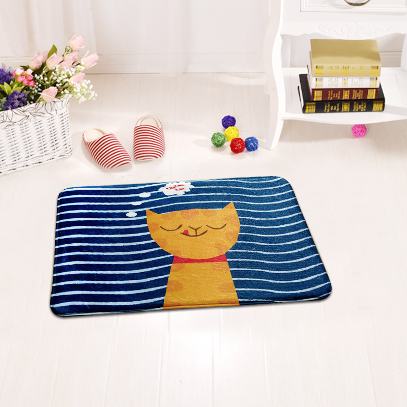 Mats In The Bedroom Living Room Computer Chair Animals Bule Carpet  Alfombras Kids Fluffy Decorative Floor Mat Rectangle Bedside