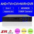 Blu-ray Металлические Наружные DVR 8CH/4CH Hisiclion Чип 1080 P/960 P/720 P/960 H коаксиальный 5 в 1 CVI TVI AHD DVR NVR Бесплатная доставка