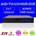 Blu-ray de metal exterior dvr 8ch/4ch hisiclion chip de 1080 p/960 p/720 p/960 h Coaxial 5 em 1 CVI TVI NVR AHD DVR Livre grátis