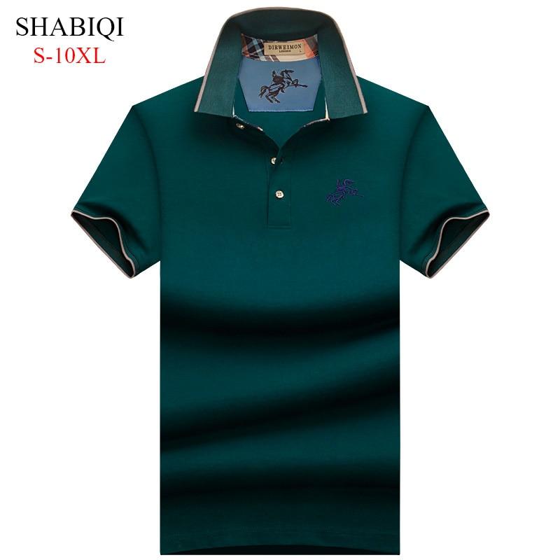 Plus Size S-10XL . 2019 NEW England style Men Polo Shirt Summer Short Sleeve Polos Mens Camisa 95%Cotto Baseball coat