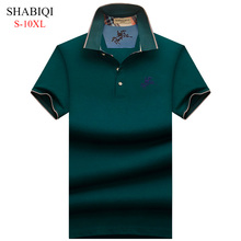 Plus Size S-10XL . 2019 NEW England style Men Polo Shirt Summer Short Sleeve Polos Mens Camisa 95%Cotto Baseball coat