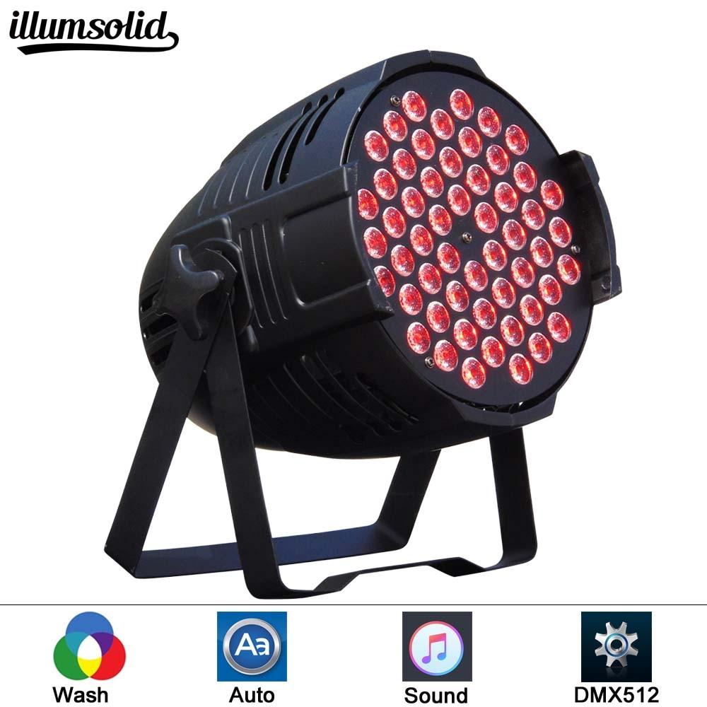 Aluminum LED Par 54x3W RGB 3in1 LED Par Can Par 64 Led Spotlight Dj Projector Wash Lighting Stage Lighting