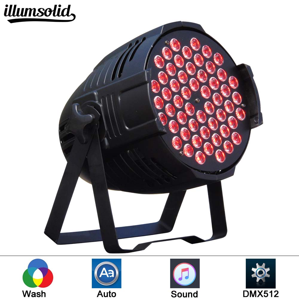 Aluminum LED Par 54x3W RGB 3in1 LED Par Can Par 64 led spotlight dj projector wash lighting stage lighting eurolite led par 64 rgb 36x3w short silver