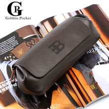 [Goblins Pocket] Men's Business Casual Clutch Bag For Phone Cases Luxury Brand Design Cowhide Multi-Function Casual Men's bags