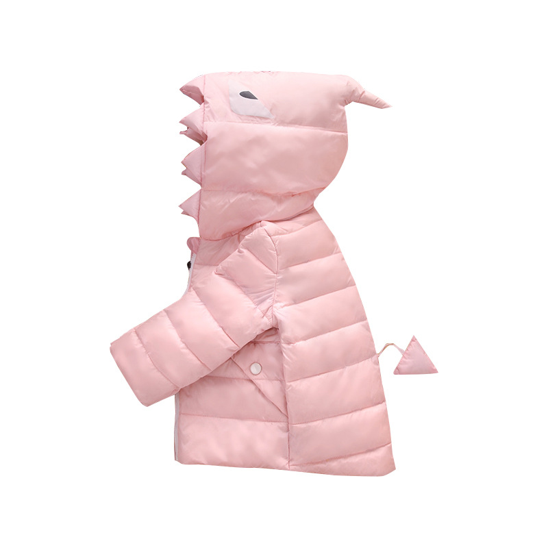 ФОТО Baby Down Coat Jacket Parka Winter Warm Jacket Baby Boys Girls Cotton Down Hooded Kids Infant Shark Animal Snow Outerwear Coat