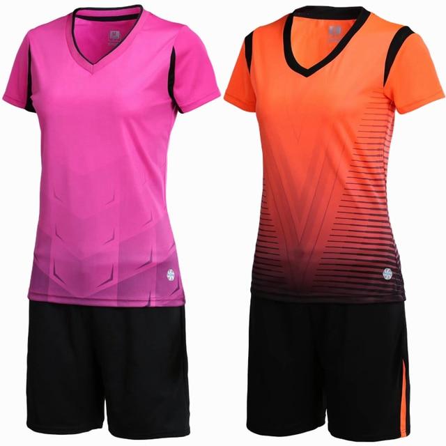 cc4fa988b1e58 Las nuevas mujeres deportes respirable de fútbol conjunto corriendo  personalizar juego de equipo camisetas de fútbol