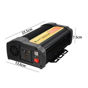 Image 2 - 3000W 전원 인버터 12 V AC 220 볼트 LCD 디지털 최대 6000 와트 수정 사인파 자동차 충전 변환기 변압기 2 USB