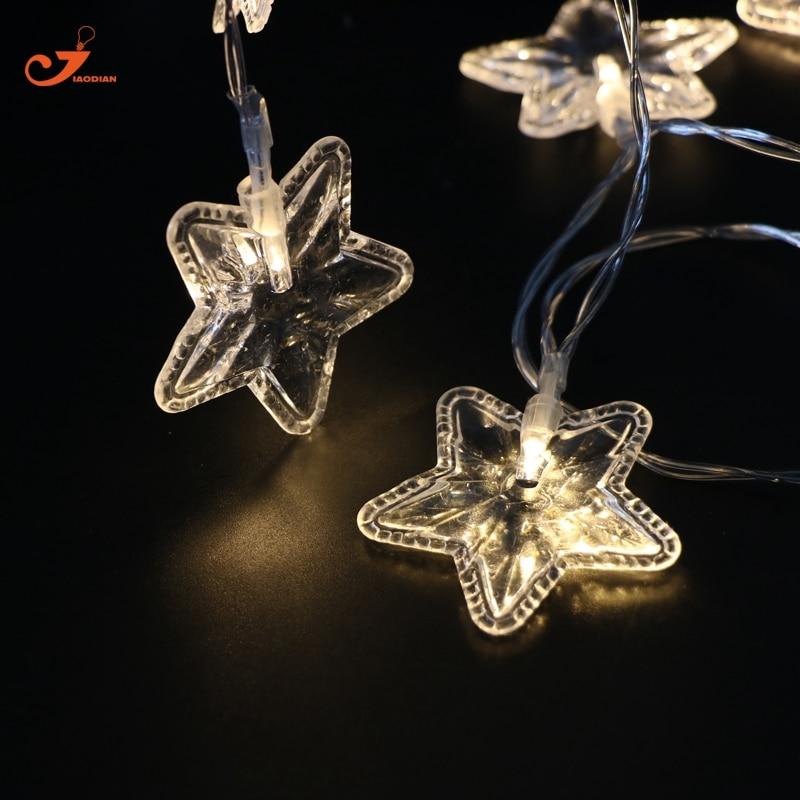 Wedding White Lights: Star Christmas Fairy Lights 10LED Warm White Holiday