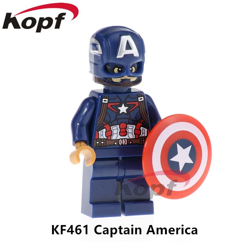 Building Blocks Single Sale Captain America INFINITY WAR Avengers Thanos Iron Man Super Heroes Bricks Children Gift Toys KF461 шапка женская paccia цвет коричневый nr 21714 4 размер 55 58
