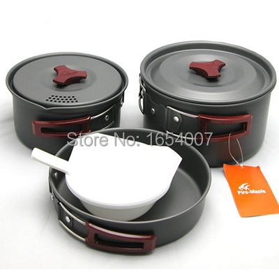 ФОТО Fire Maple Pot Camping Cooking Set FMC-202 Camp Cookware Picnic Outdoor Cutlery For 2-3 Persons 719g