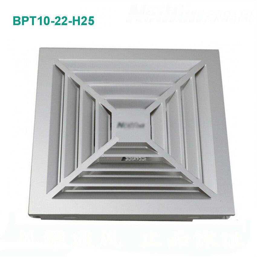 BPT10-22-H25 ventilateur ventilateur salle de bains fenêtre d'échappement ventilateur toilette salle de bains mur silencieux ventilateur d'échappement 220 V/18 W taille du panneau 300*300mm