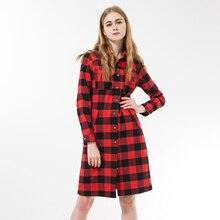 Мода 2016 года плед Для женщин Блузки для малышек Винтаж длинные Для женщин хлопковая рубашка Для женщин Топы корректирующие с длинным рукавом Blusa feminina Turn_down воротник Blusa