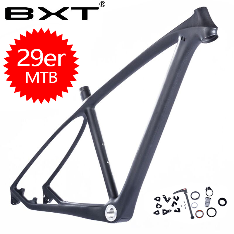 Free shipping 2018 BXT brand T800 carbon mtb frame 29er mtb carbon frame 29 carbon mountain