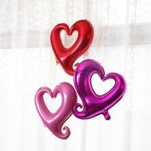 10pcs/lot Large Hook Heart Shape Foil Balloons Valentines Day Wedding Party Decoration Marriage