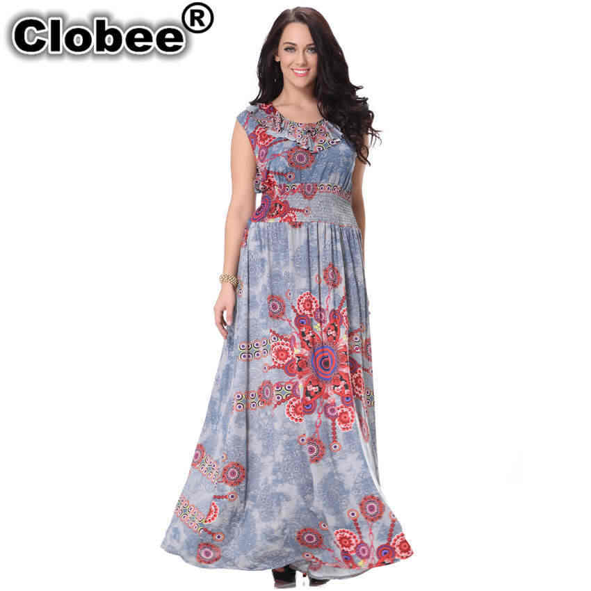 Office robe femme ete 2019 Autumn Women Dress Sleeveless Big Size ukraine 7XL Print Elegant Party Dress vestidos de festa Tunic