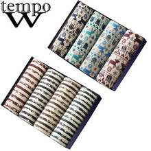 WTEMPO 8 pcs/lot Hot Male Underwear Men Boxer Sexy Underpants Panties Comfortable Breathable Cuecas Fashion Cueca