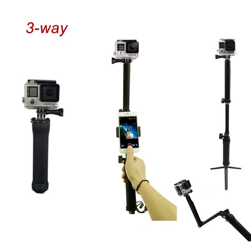 3 way extension selfie stick grip grip tripod mount