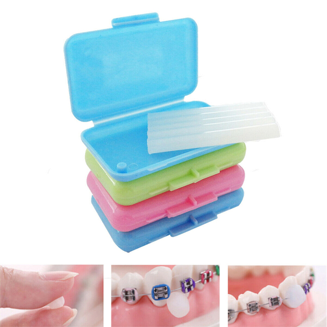 New 10Pcs Dental Orthodontics Ortho Wax Mint Mix Scent For Braces Bracket Gum IrritationTeeth Whitening Oral Hygiene Tool