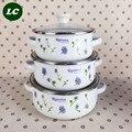 O envio gratuito de ferramentas de cozinha potes caçarola do esmalte conjunto de mini utensílio de cozinha com tampa de esmalte