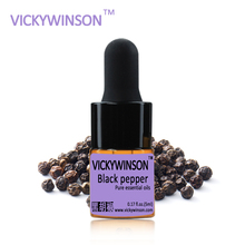 Black pepper essential oil 5ml  100% Pure black peppers oils aromatherapy for hair