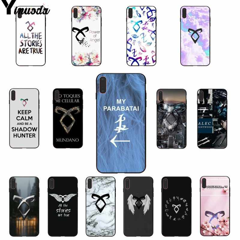Yinuoda shadow hunters Custom Photo Soft Phone Case for iPhone 5 5Sx 6 7 7plus 8 8Plus X XS MAX XR