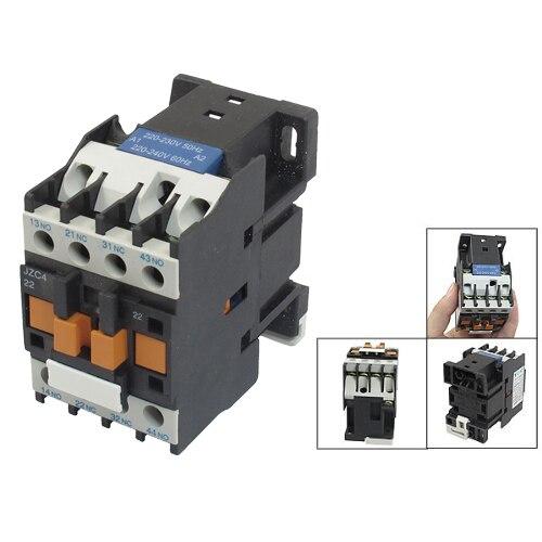 Nuevo estilo JZC4-22 220-240V 50/60Hz bobina 20A 2P tres polos 2NO 2NC AC Contactor TOCT1 2P 25A 220 V/230 V 50/60 HZ, carril Din hogar ac contactor Modular 2NO 2NC o 1NO 1NC