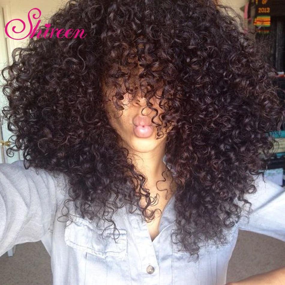 Shireen Malaysian Afro Kinky Curly Hair Bundles 4 Bundle