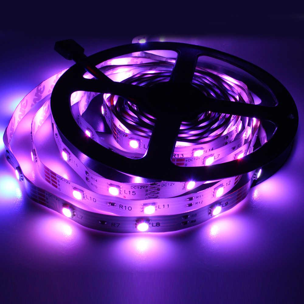 Светодиодная лента DC12V 5050 SMD Светодиодная гибкая белая RGB световая лента 5 м 150 Led не водонепроницаемая для украшения бара домашний бар KTV
