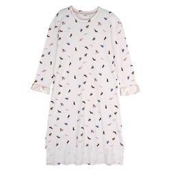 Большой размеры M-2XL для женщин Весна 100% хлопковая ночная рубашка милый мультфильм с длинным рукавом рубашки для мальчиков