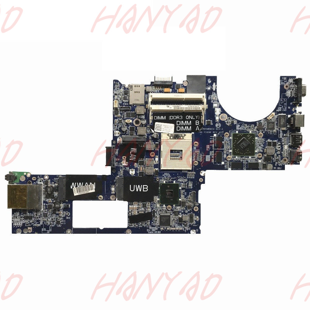 CN-0Y507R 0Y507R Y507R For DELL XPS 1645 Laptop Motherboard PM55 HD4670 1GB DA0RM5MB8D0 support i7 cpu 100% tested