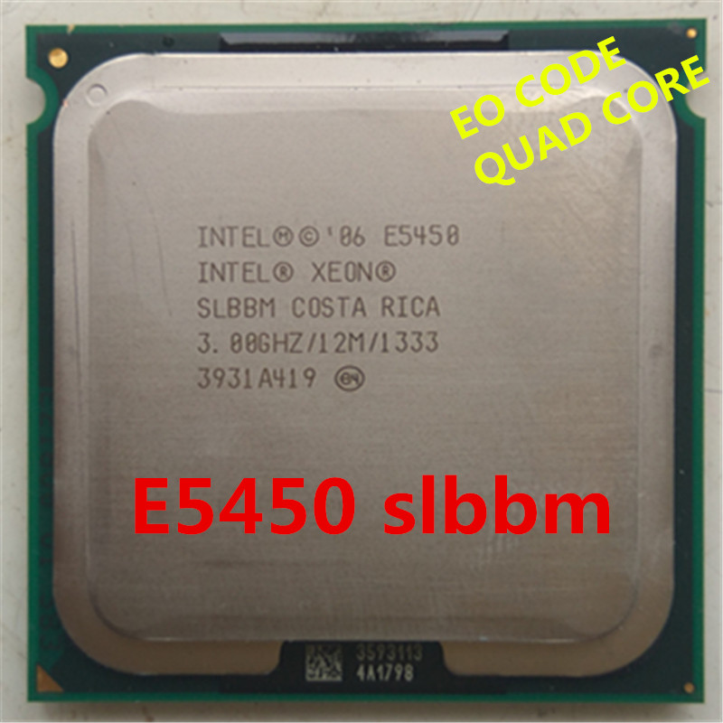 Original XEON E5450 Eo Slbbm CPU 3.0GHz /L2 Cache 12MB/Quad-Core/FSB 1333MHz/ Server Processor Use Some 775 Socket Mainboard
